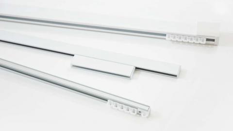 Gardinskenor för till exempel lamellgardiner finns i många olika utföranden